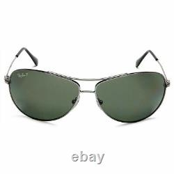 New Authentic Ray-Ban Sunglasses Gunmetal withGreen Polarized Lens RB3293 004/9A