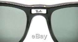 New RAY-BAN Folding Wayfarer RB 4105 601/58 54mm Black with Green Polarized Large
