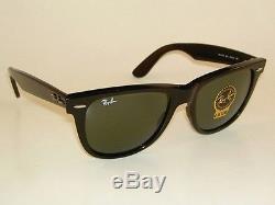 New RAY BAN Original WAYFARER Sunglasses RB 2140 901 Black Frame 54mm Large