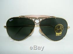 New RAY BAN Sunglasses AVIATOR SHOOTER Gold RB 3138 001 Glass G-15 Lenses 62mm
