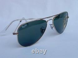 New RAY BAN Sunglasses AVIATOR SMALL METAL Gold RB 3044 L0207 52mm G-15 Lens