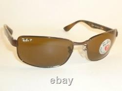 New RAY BAN Sunglasses Brown Frame RB 3478 014/57 Polarized Brown Lenses 60mm