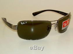 New RAY BAN Sunglasses Gunmetal Frame RB 3379 004/58 Polarized Lenses