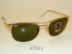 New RAY BAN Sunglasses SIGNET Gold Frame RB 3429M 001 G-15 Glass Lenses 58mm