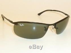 New RAY BAN Sunglasses TOP BAR Black Frame RB 3183 006/71 Green Lenses