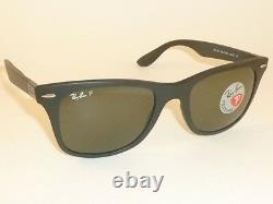 New RAY BAN Sunglasses Wayfarer Liteforce Black RB 4195 601S/9A Polarized Lenses