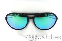 New Ray-Ban Alex Rubber Black Frame Green Mirrored Sunglasses RB4201 622/3R 59