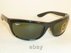 New Ray Ban Balorama Sunglasses Black Frame RB 4089 601/31 G-15 Green Lenses