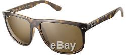 New Ray Ban RB 4147 710/57 Light Havna Plastic Sunglasses Brown Polarized 60mm