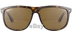 New Ray Ban RB 4147 710/57 Light Havna Plastic Sunglasses Brown Polarized 60mm