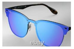 New Ray Ban Ray-ban Blaze Clubmaster Sunglasses Rb3576n Blue Mirror