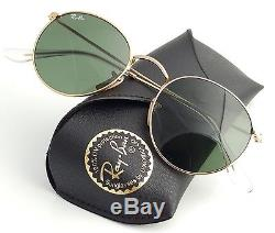 New Ray-Ban Round Metal Gold RB 3447 001 50mm Sunglasses with Green Lens 3fd4f1e6db25