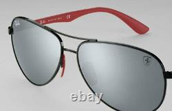 New Ray Ban Scuderia Ferrari Collection RB8313M F0096G Grey Mirror Aviator 61mm