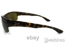 New Ray-Ban Semi Rimless Rectangular Tortoise Sunglasses RB4173 710/73 62 $153