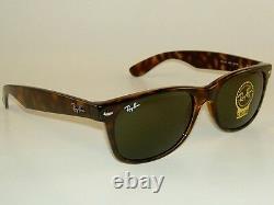 New Ray Bay Sunglasses Tortoise NEW WAYFARER RB 2132 902 G-15 Glass Lenses 52mm