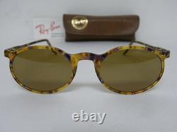 New Vintage B&L Ray Ban Asbury Driving Chromax Purple Tortoise W1723 Cheyenne