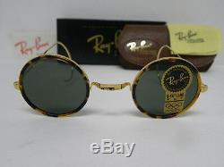 New Vintage B&L Ray Ban Cheyenne Style I 1 Spotted Tortoise W1750 Round USA
