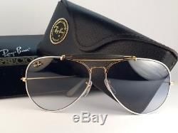 New Vintage Ray Ban B&l Precious Metals 62mm Outdoorsman Blue Lens Us Sunglasses