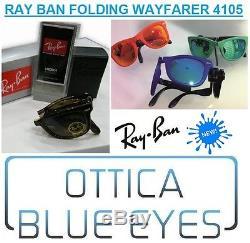 Occhiali da Sole RAYBAN Folding WAYFARER 4105 Ray Ban PIEGHEVOLE FREE Sunglasses
