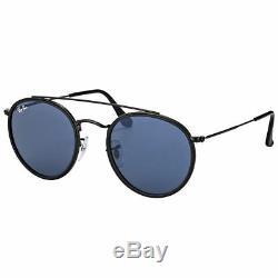Occhiali da Sole Ray Ban Limited Round Double Bridge nero grigio RB3647N 002/R5