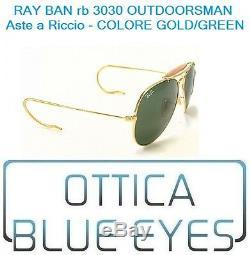 Occhiali da Sole Ray Ban RB 3030 Outdoorsman RICCIO Gold g15 Sunglasses Ray-Ban