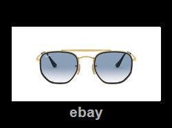 Occhiali da sole Ray-Ban RB3648M Marshall oro Blu sfumato 91673F Originali