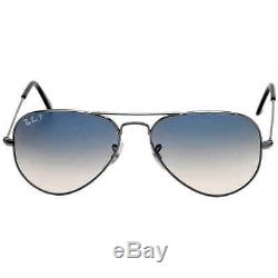 Original Aviator Polarized Blue Gray Gradient Sunglasses RB3025-00478-55