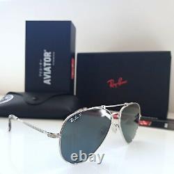 Original RAY-BAN TITANIUM Aviators sunglasses RB8125M 9165 Made In Japan