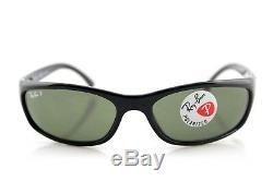 POLARIZED NEW Genuine RAY-BAN Predator Black Wrap Sunglasses RB 4115 601/9A