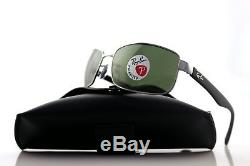 POLARIZED New RAY-BAN Active Green Glass Lens Gunmetal Sunglasses RB 3478 004/58
