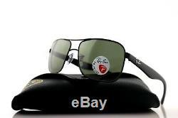 POLARIZED New RAY-BAN Aviator Black Green Classic G-15 Sunglasses RB 3516 006/9A