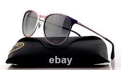 RARE Genuine RAY-BAN ERIKA METAL Violet Grey Gradient Sunglasses RB 3539 195/11