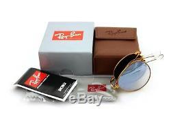 RARE Genuine RAY-BAN Round Metal FOLDING Bronze Copper Sunglasses RB 3532 198/9U