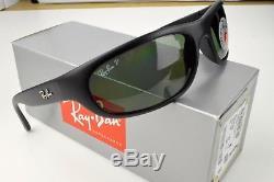 ++RARE++ RAY BAN PREDATOR RB4033 601-S48 Matte Black Green Polarised Sunglasses