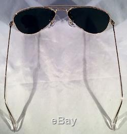 RAY BAN AVIATOR RB 3044 L0207 52mm GOLD FRAME With G-15XLT GREEN SUNGLASSES SMALL