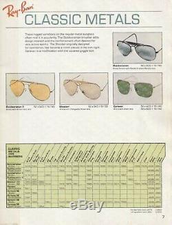 RAY-BAN Bausch Lomb New Mens Vintage 1980 Sunglasses Gold CARAVAN Arista L0226