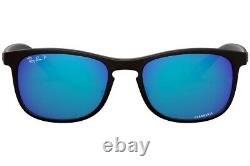 RAY-BAN CHROMANCE POLARIZED SUNGLASSES RB4263 601SA1 Black W Blue Lens NEW