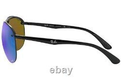RAY-BAN CHROMANCE POLARIZED SUNGLASSES RB4293CH 601/A1 Black W Blue Mirror Lens