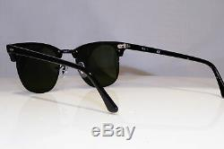 RAY-BAN Mens Mirror Boxed Sunglasses Black Clubmaster NEW RB 3016 1229/30 25941