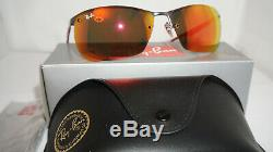 RAY-BAN New Authentic Sunglasses Gunmetal Red Mirror RB3550 029/6Q 64 130