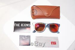 RAY-BAN New Mens Designer Mirror Cosmic Sunglasses Mars Wayfarer RB 2140 15349