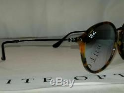 RAY BAN New Sunglasses Fleck Tortoise Silver Gradient Flash RB2447 11579U 49 145