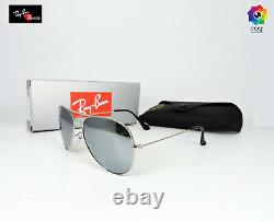 RAY-BAN RAY BAN RB3026 AVIATOR SILVER FRAME SILVER POLARIZED SUNGLASSES 62mm