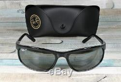 RAY BAN RB2027 601 W1 Predator 2 Black Dk Grey Polarized 62 mm Men's Sunglasses