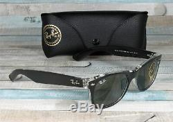 RAY BAN RB2132 6052 New Wayfarer Black Transparent Green 52 mm Men's Sunglasses
