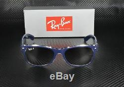 RAY BAN RB2132 6053M3 Top Blue Trans Grdnt Grey Polarized 55 mm Men's Sunglasses