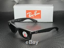 RAY BAN RB2132 622 58 New Wayfarer Black Green Polarized 52 mm Unisex Sunglasses