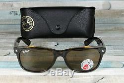 RAY BAN RB2132 902 57 New Wayfarer Tortoise Brn Polarized 55 mm Men's Sunglasses