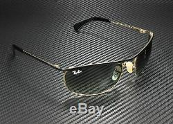 RAY BAN RB3119 916271 Olympian Black Demishiny Gold Grey 62 mm Unisex Sunglasses