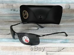 RAY BAN RB3183 002 81 Black Grey Polarized 63 mm Men's Sunglasses